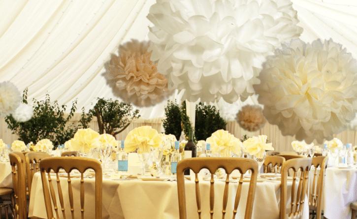 Bruiloft decoratie kopen buiten of idee n aankleding for Ballonnen versiering zelf maken