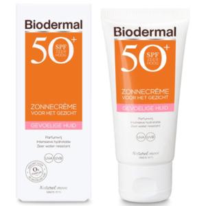 Biodermal Zon Gevoelige huid – Zonnecrème voor het gezicht – SPF 50+