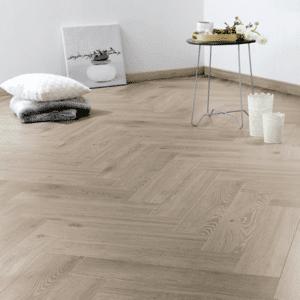Floer Visgraat Laminaat Vloer - Vergrijsd Eiken 64 x 14,3 x 1,2 cm