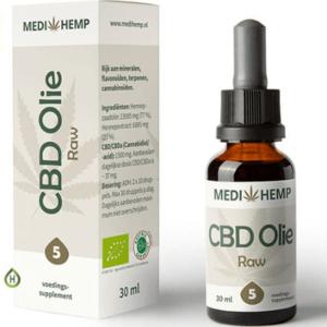 MediHemp CBD Olie Raw CO2 Extractie 5% CBD 30ml