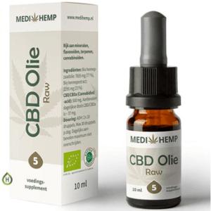 Medihemp CBD olie RAW (5%) BIO 10ml