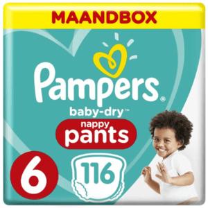 Pampers Baby-Dry Pants Luierbroekjes - Maat 6